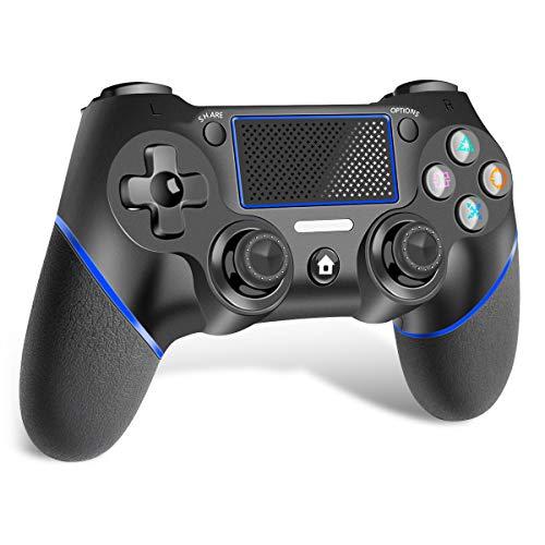 CHEREEKI Controller per PS4, PS4 Joystick Wireless Controller, di Gioco Wireless Dualshock a Sei-Assi Joystick con TouchPad e Jack Audio, Controller Wireless per PS4/PS4 Slim/PS4 PRO/PC