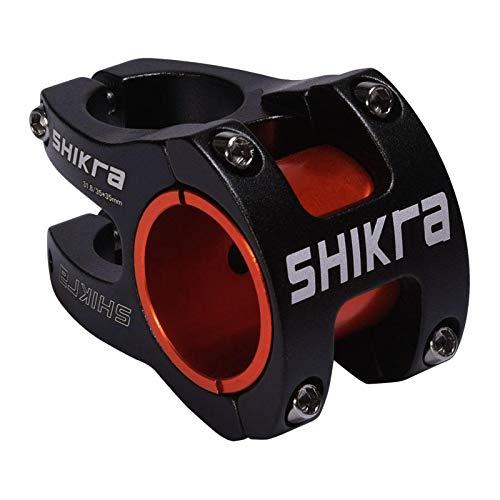 FITYLE Aleación de Aluminio 31,8mm/ 35mm Tallo montaña BMX Bicicleta Corta Tallo 35mm Largo Barra Ciclo componente - Negro