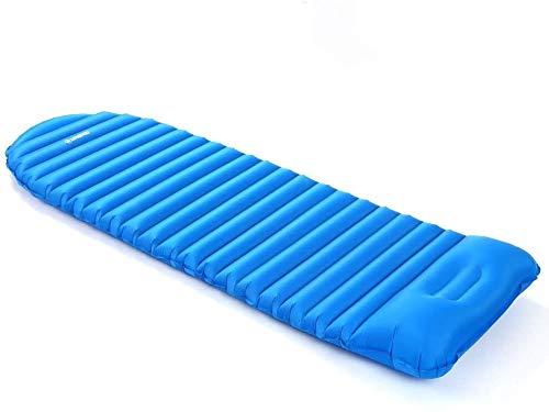 Kyman Moistureproof Luftmatratze aufblasbare Schlafenauflage Isomatte Thick Schlafenbett Strand Picknick-Matte mit Built-in-Kissen