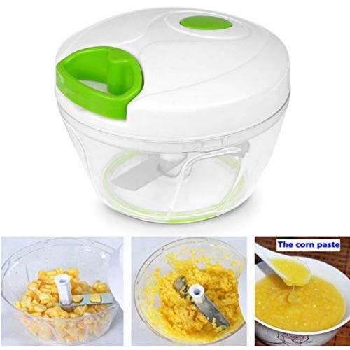 K.LSX Handmatige Food Chopper, Plantaardige Chopper Mincer Blender om Groenten Groenten Noten Kruiden Uien Garlics voor Salsa Salade Pesto Coleslaw Puree hakken