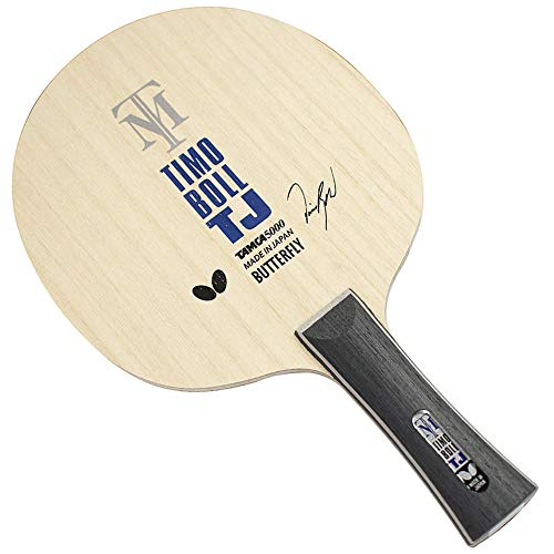 Butterfly Timo Boll TJ Table Tennis Blade - TAMCA 5000 Carbon Fiber Blade - Timo Boll TJ Blade - Junior Table Tennis Blade - Only Available in Flared Handle - Made in Japan