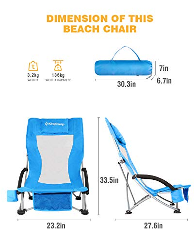 KingCamp Low Sling Beach Chair