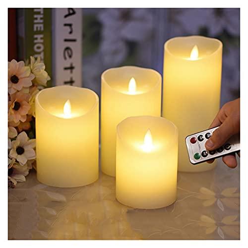 HSHHJSH Velas LED, velas sin llama, velas de cera LED, decoración del hogar, Halloween, Navidad (color: 75 x 180 mm)