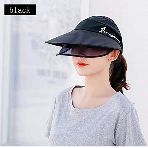Sonnenhut Herren Damen Schutz Mütze Fischerhut, Anti UV UPF 50+ Hut Reitkappe Gesichtschutz Mütze für Outdoor Reiten Trekking