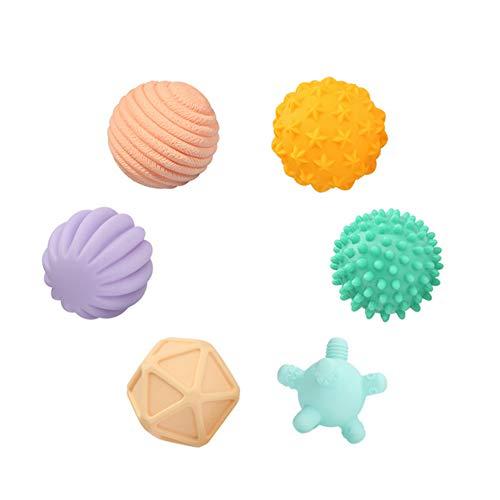 TrifyCore Baby Sensory Ball geschmeidiger Ball Multi-Form-Squeeze Spielzeug Baby Bunten Ball Spielzeug Massage-Kugel-Effekt Developmental Spielzeug für Babys Kinder Bunter B278-6 Typ 1Set