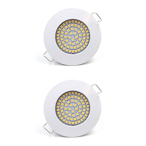 LED Einbauleuchte flache Einbauspots Einbaustrahler Einbauleuchten 3,5W | 230V | 3.000K | Weiß | Lochkreis: 58mm