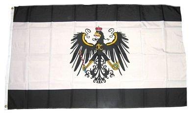 MM Königreich Preußen Flagge/Fahne, 150 x 90 cm, wetterfest, mehrfarbig, 16206