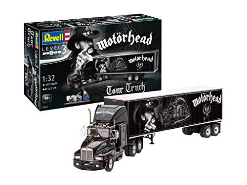 Revell 07654 Tour Truck Motörhead originalgetreuer Modellbausatz für Einsteiger, mit Basis-Zubehör, unlackiert