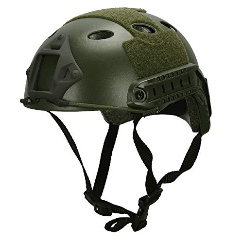 LOOGU Airsoft Helmet, Fast PJ Type Bump Tactical Protective Gear for Outdoor Activities with 12-in-1 Face Mask