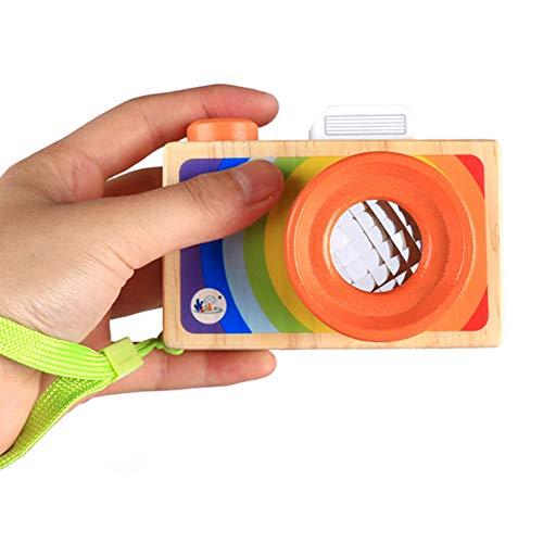mi ji Caleidoscopio de Madera de Dibujos Animados SLR Cámara Multi Prisma Polígono Espejo Cámara Variedad Ojos de Abeja Efecto Cámara Diversión Juguetes para Niños