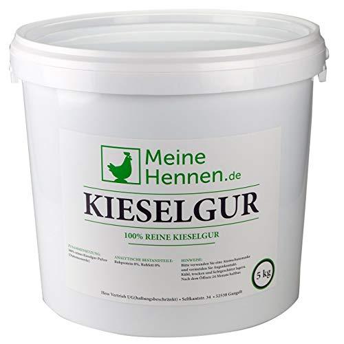 MeineHennen (EUR 4,00/ kg) Kieselgur 5 kg/ca. 12 Liter - Natürliche Diatomeenerde