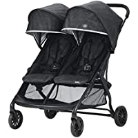 Evenflo Aero2 Compact Self-Standing Folding Design Ultra-Lightweight Double Strollers (Osprey Gray)