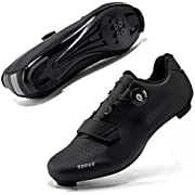 Mens or Womens Road Bike Cycling Shoes Peloton Bike Shoes with Compatible Cleat SPD Spin Shoe Indoor/Outdoor Black,Size 5