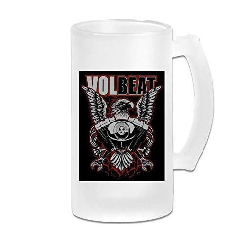 16oz Milchglas Bier Stein Mug Cup - Volbeat Print Design - Graphic Mug