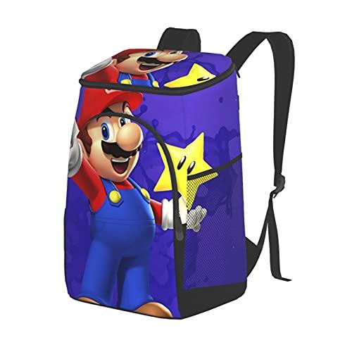GDSGTTD Mario Game Super Picknick-Rucksack, großer isolierter Picknick-Rucksack, Mehrzweck-Kühltasche, Rucksack für Strand/Picknicks/Camping/Grillen/Tagesausflüge