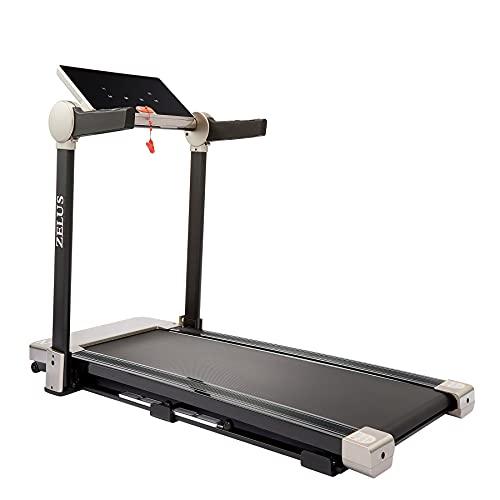 HIRAM Tapis Roulant Pieghevole Elettrico Treadmill Professionale velocità Regolabile 12KM/H Fitness per Casa Altoparlante Bluetooth USB capacità 100 kg Assorbimento degli Urti Magnetici