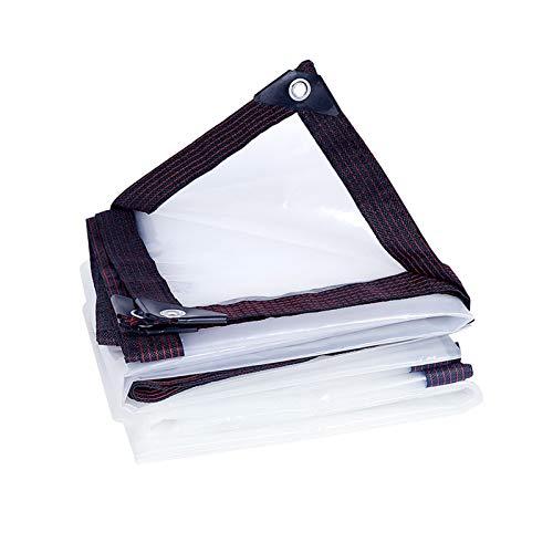 KUYUC Lona Transparente con Ojales, Impermeable Polietileno Lona de Protección para Invernadero a Prueba de Lluvia Toldos de Plantas, 120g/m² (Color : Clear, Size : 4x5m/13x16ft)