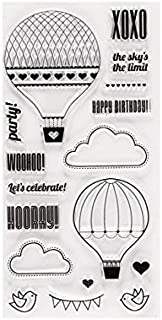 """Fiskars Clear Stamp 4""""X8""""-Up In The Air"""