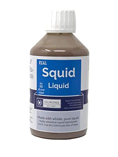 OURONS Calamar Hidrolizado Liquid para cebos de Pesca 250ml