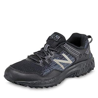 New Balance Men's 410 V6 Trail Running Shoe, Black/Black, 10.5 XW US