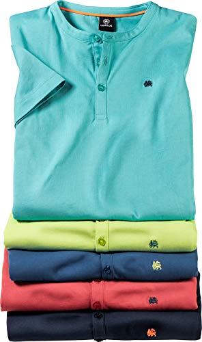 LERROS Herren Serafinoshirts, 5er Pack, Herrenshirts aus 100% Baumwolle, Moderne Basic T-Shirts, lässiges Oberteil für Männer, sportliche Herrenbekleidung, Gr. M - 3XL