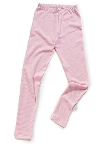HERMKO 26720 Kinder Leggings in Ringeloptik Made in EU, Größe:116, Farbe:Rosa Ringel