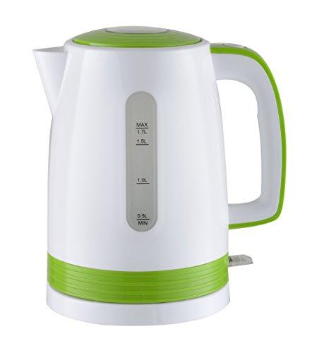 Triomph ETF1793 - Bollitore elettrico, 2200 W, 1,7 litri, bianco/verde