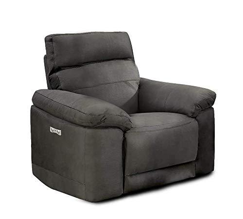 Meubletmoi - Sillón de relaxación motorizado, tejido de antelina suave, muy cómodo y blando