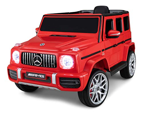 Kid Trax Electric Kids Luxury Mercedes Benz AMG G63 Car Ride-On Toy, 6 Volt Battery, Remote Control, Ages 3-5 Years, Red