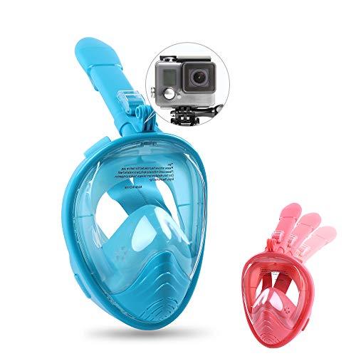 GS CHIER Schnorchelset Kinder,Tauchmaske mit Schnorchel + Schwimmgurt zum Schwimmtraining Kinder Set Junge/Mädchen (Blau Türkis)
