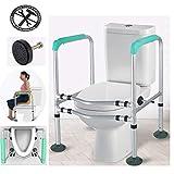WenTao WC-Haltegriffe Rahmen WC-Einfassung Gepolsterter Bad-Handlauf mit Einstellbarer Höhe 6 für ältere Behinderte Geschenk Maximales Benutzergewicht 190 kg,1piece -