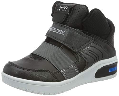 Geox Boys J XLED Boy A Sneaker, Black,33 EU
