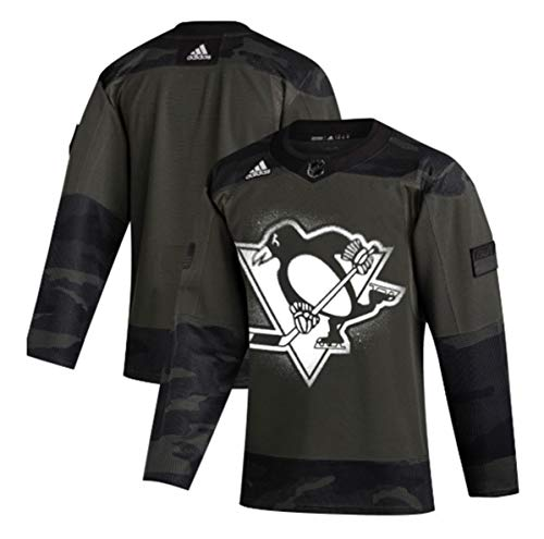 adidas Pittsburgh Penguins 2019 Veterans Day Authentic Practice Jersey (52/L)