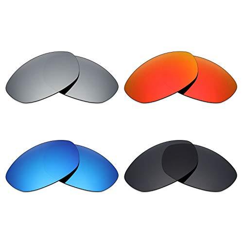 MRY 4Paar Polarisierte Ersatz Gläser für Oakley Fives 2.0sunglasses-stealth schwarz/fire rot/ice blau/silber titan