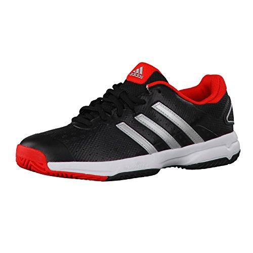 adidas Barricade team 4 xJ, CBLACK/SILVMT/BRIRED, 4