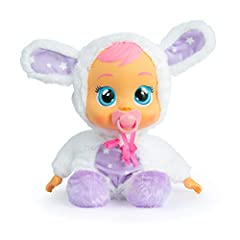 New Cry Babies Goodnight Coney doll will help children fall asleep in the most magical way She has a very soft body and wears super soft pajamas. Good Night Coney cries light up LED tears when you take away her pacifier. Her face lights up with a soo...