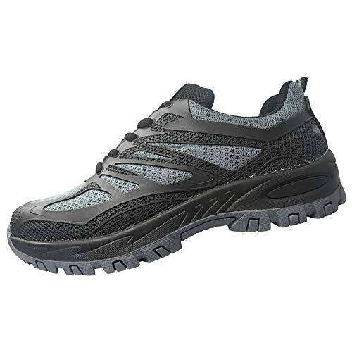 shoes Arbeitsschuhe für Männer und Frauen, Atmungsaktiv Anti-Smashing Stahlkappe Schuhe Rutschfeste verschleißfeste Sicherheitsstiefel, Geeignet für Outdoor-Training/Klettern