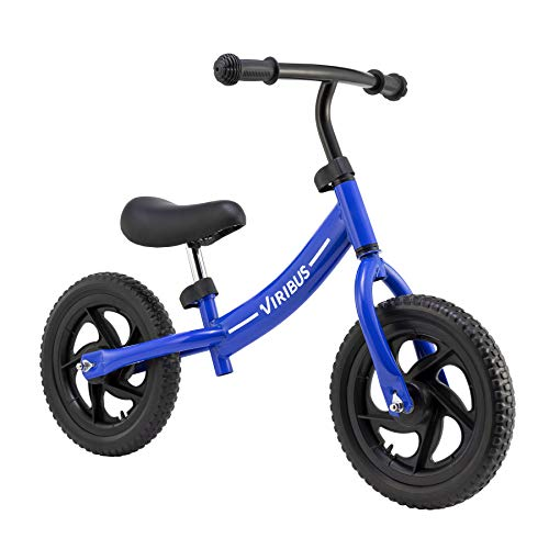 Kids Balance Bike & Toddler Scooter Bicycle with EVA Foam Tires, Lightweight Frame Toddler Bike for Boys and Girls 2 3 4 5 Years Old, No Pedal Ride On Toy for Children (Blue)