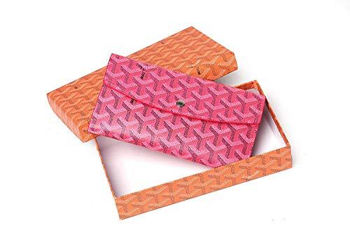 Dames-brievenbus, modieus, multifunctioneel, lange positie, meerdere kaarten, Roos Rood (rood) - 9867333147076