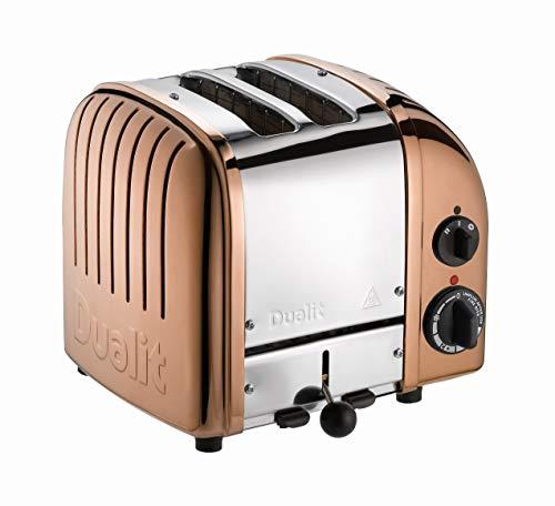 Classic NewGen 2-Scheiben Toaster, kupfer poliert handgefertigt mit EU Stecker