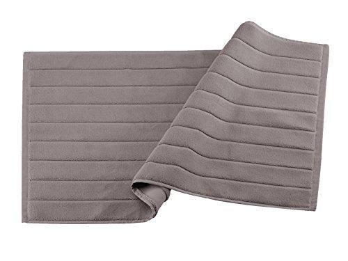 BLANC CERISE Tapis de Bain Taupe - Coton peigné 1000 g/m 050x080 cm