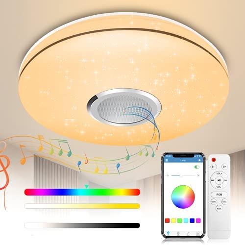 LED Deckenleuchte mit Fernbedienung -...