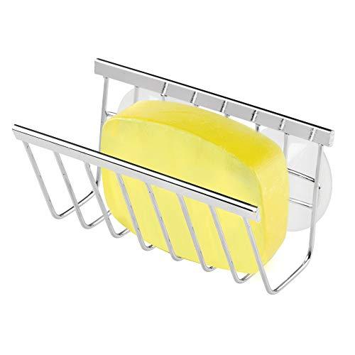 interDesign SinkWorks - Soporte para jabón y esponja, Acero inoxidable
