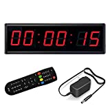 LED Digital Countdown Wall Clock Fitness Timer Stopwatch for Gym (2.3inch Digital High)