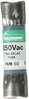 Bussmann FNM-10 Tron Fnm Non-Indicating Time Delay Supplemental Fuse, 250 Vac, 10 A