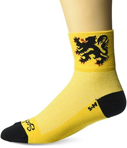 Sockguy Chaussettes classiques S/M Lion of Flanders Yellow/Black