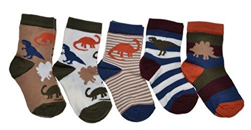 WB Socks 5 Paires de Chaussettes Bébé Garçon - Dinosaure