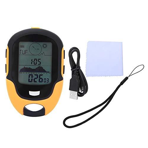 Tbest Barómetro Altímetro, multifunción para Exteriores, altímetro Digital para montañismo, termómetro para...