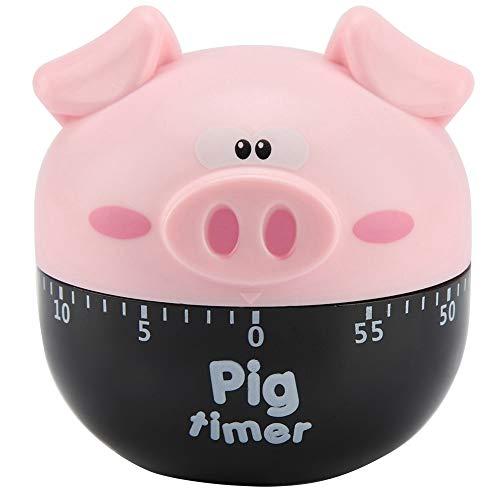 Lindo cerdo de dibujos animados de cocina temporizador de cocina mecánico temporizador de cocina decoración del hogar contadores para la cocina de tiempo herramienta rosa