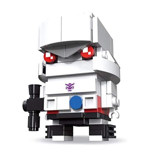 Transformers Pequeños Bloques de construcción de partículas Pop Megatron PVZ Bloques de construcción Intelectual Bloques de desarrollo de juguete MODEL MINI Q VERSIÓN VERSIÓN COLECCIÓN VERSIÓN COLECCI